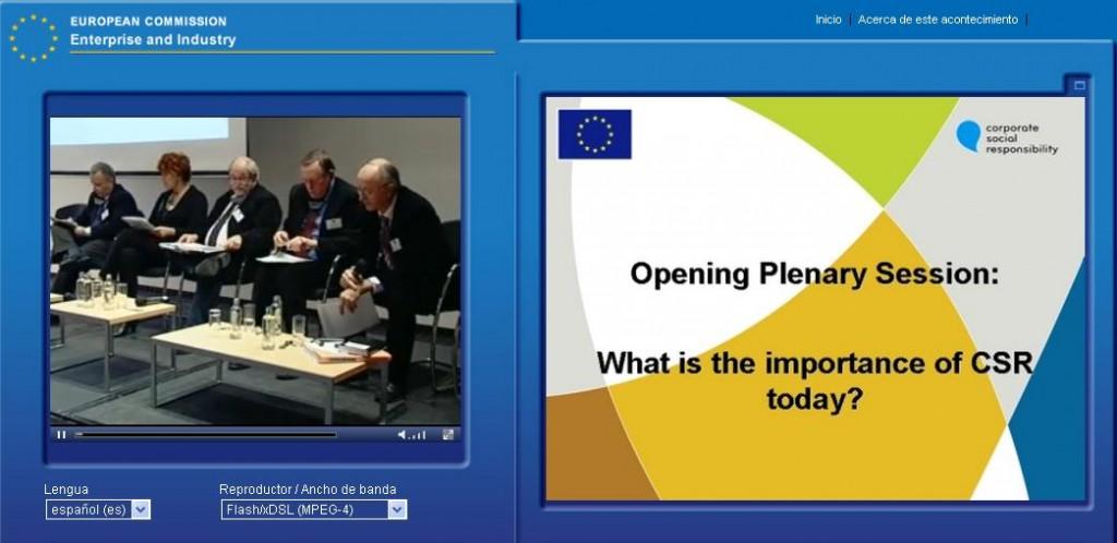 En Directo: Foro Europeo Multistakeholders de RSE